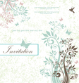 Wedding card or invitation vector