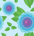 Seamless pattern - color flower vector image