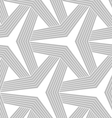 Monochrome striped three ray stars vector image