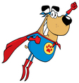 super hero dog flying vector image