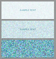 Abstract square mosaic pattern banner set vector image