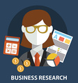 Business research flat modern design concept vector image