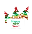 Christmas and New Year geometric banner with text vector image