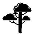cloud tree icon simple black style vector image