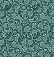 Curl seamless pattern Green circles abstract vector image