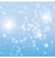 drops in the blue water background vector image