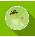 Microorganism flat icon vector image