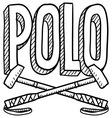 Polo vector image