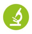 round icon microscope cartoon vector image