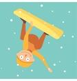 Snowboarder jump vector image