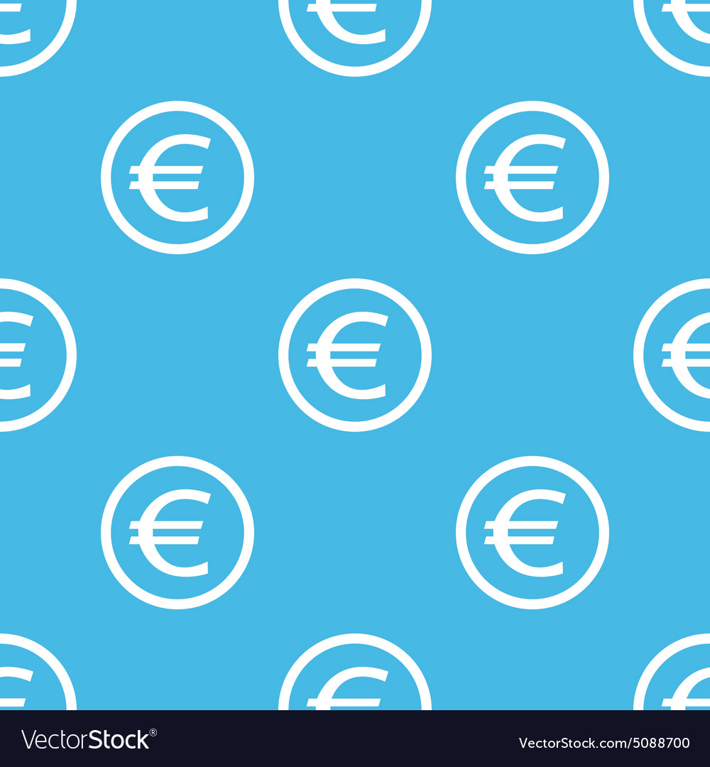 Euro sign blue pattern vector