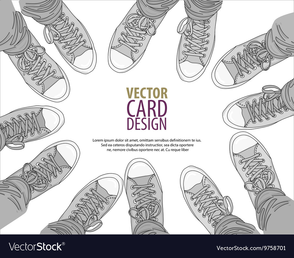 Legs with jeans in any color gumshoes vector