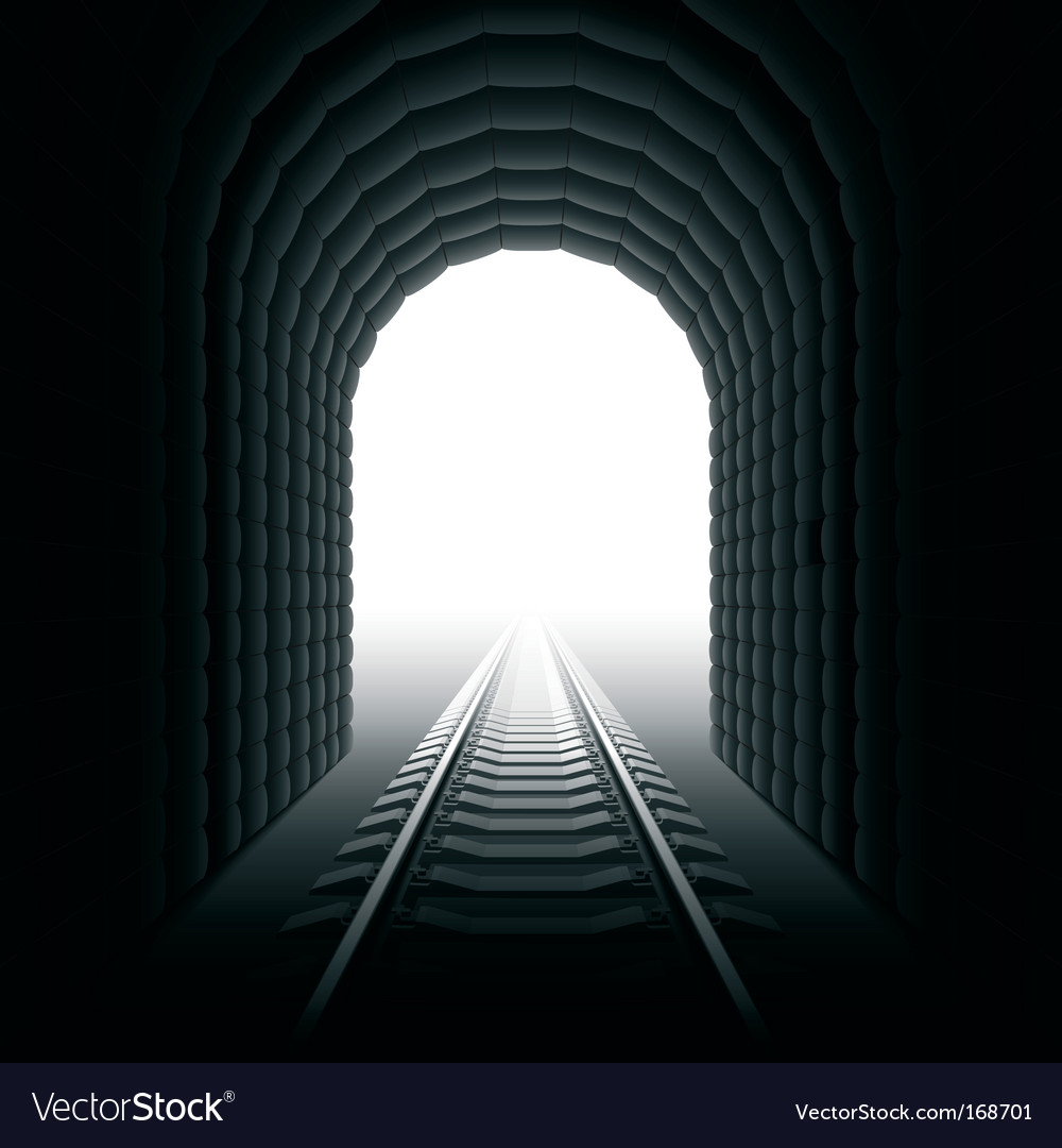 Railroad tunnel vector