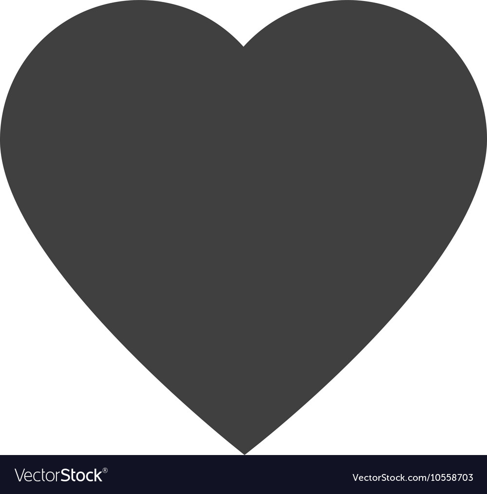 Heart shape love design vector