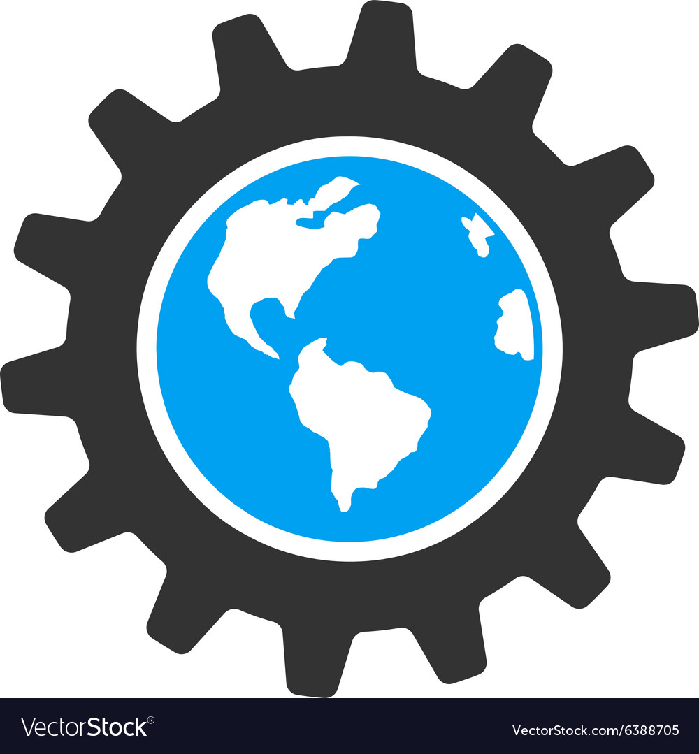 Earth engineering icon vector