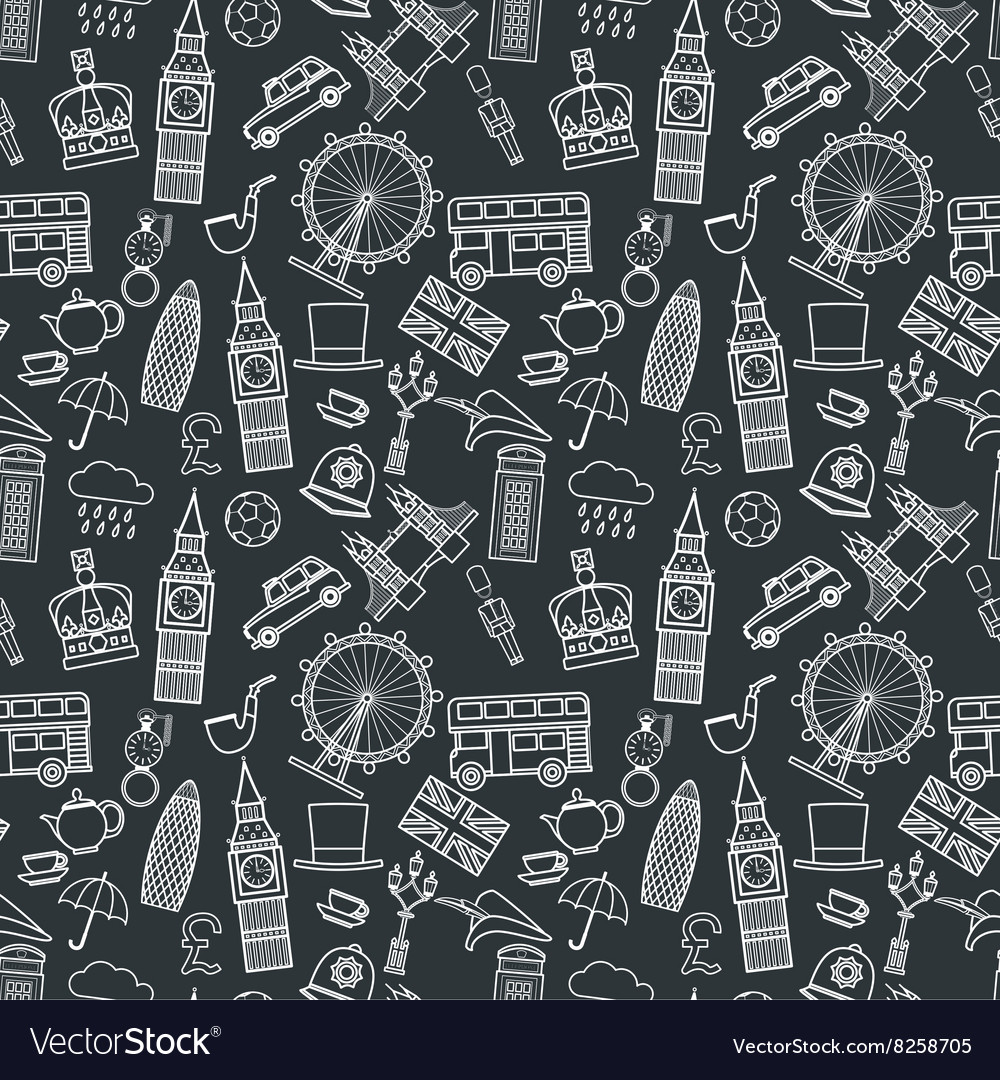 England seamless pattern 1 vector