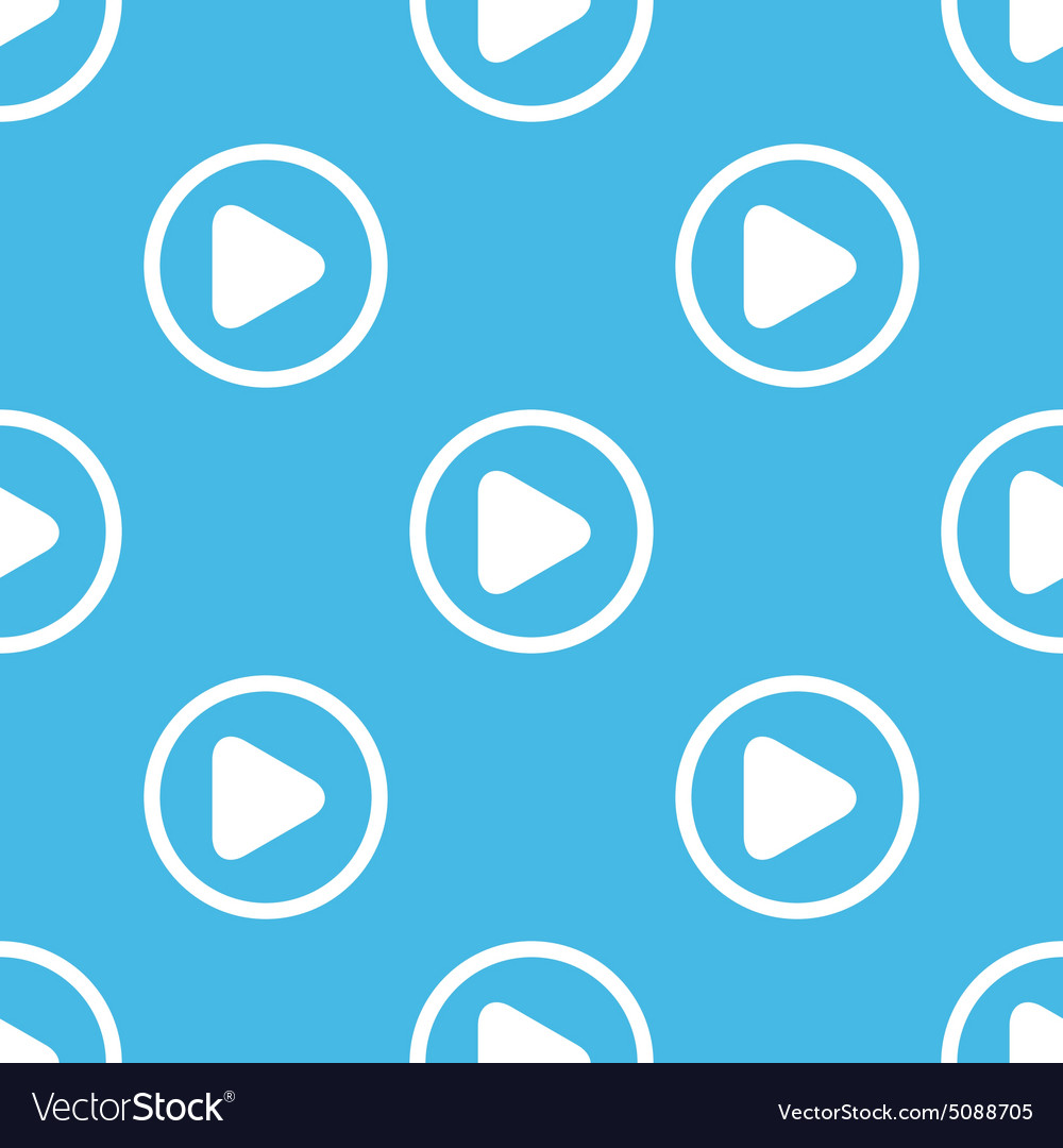 Play sign blue pattern vector