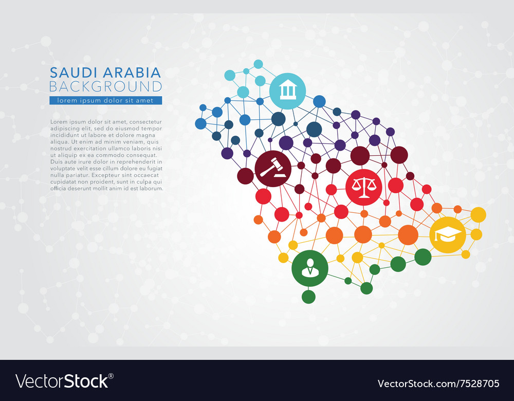 Saudi arabia dotted background vector