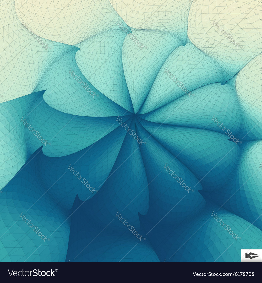 Torsion and rotation movement art mosaic vector