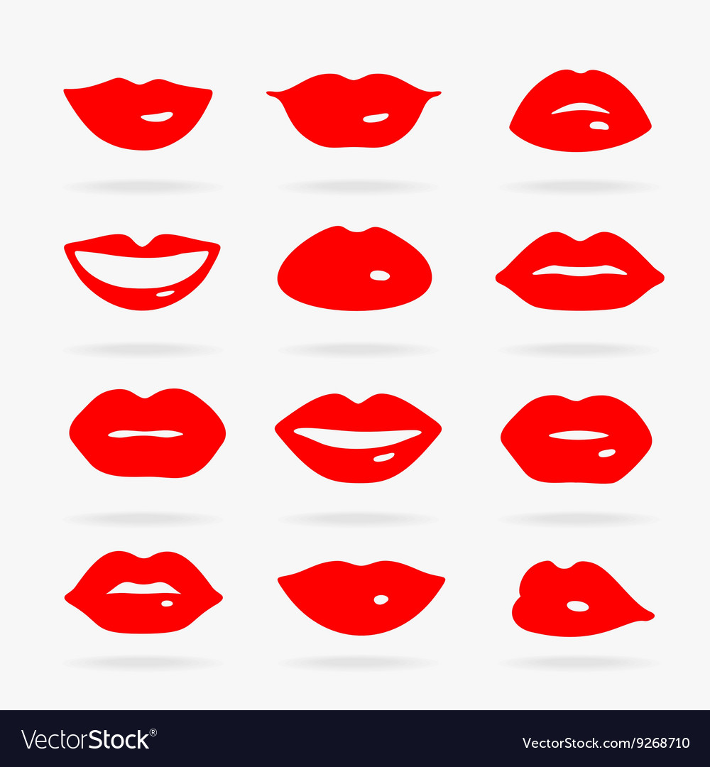 Set of symbols lips vector