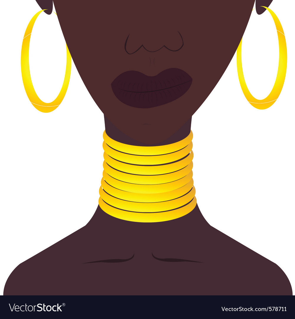Beauty necklace vector
