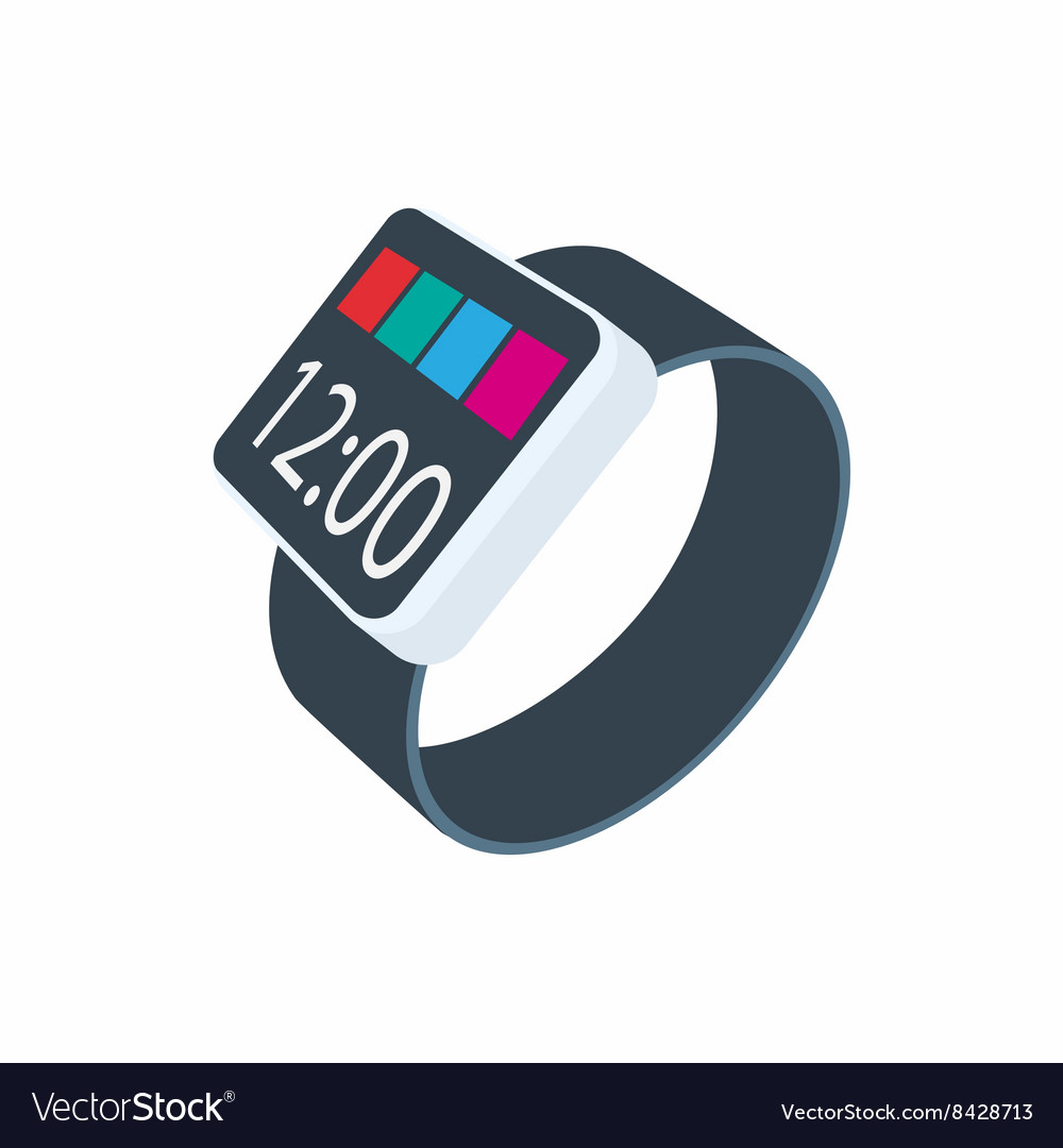 Smartwatch icon cartoon style vector