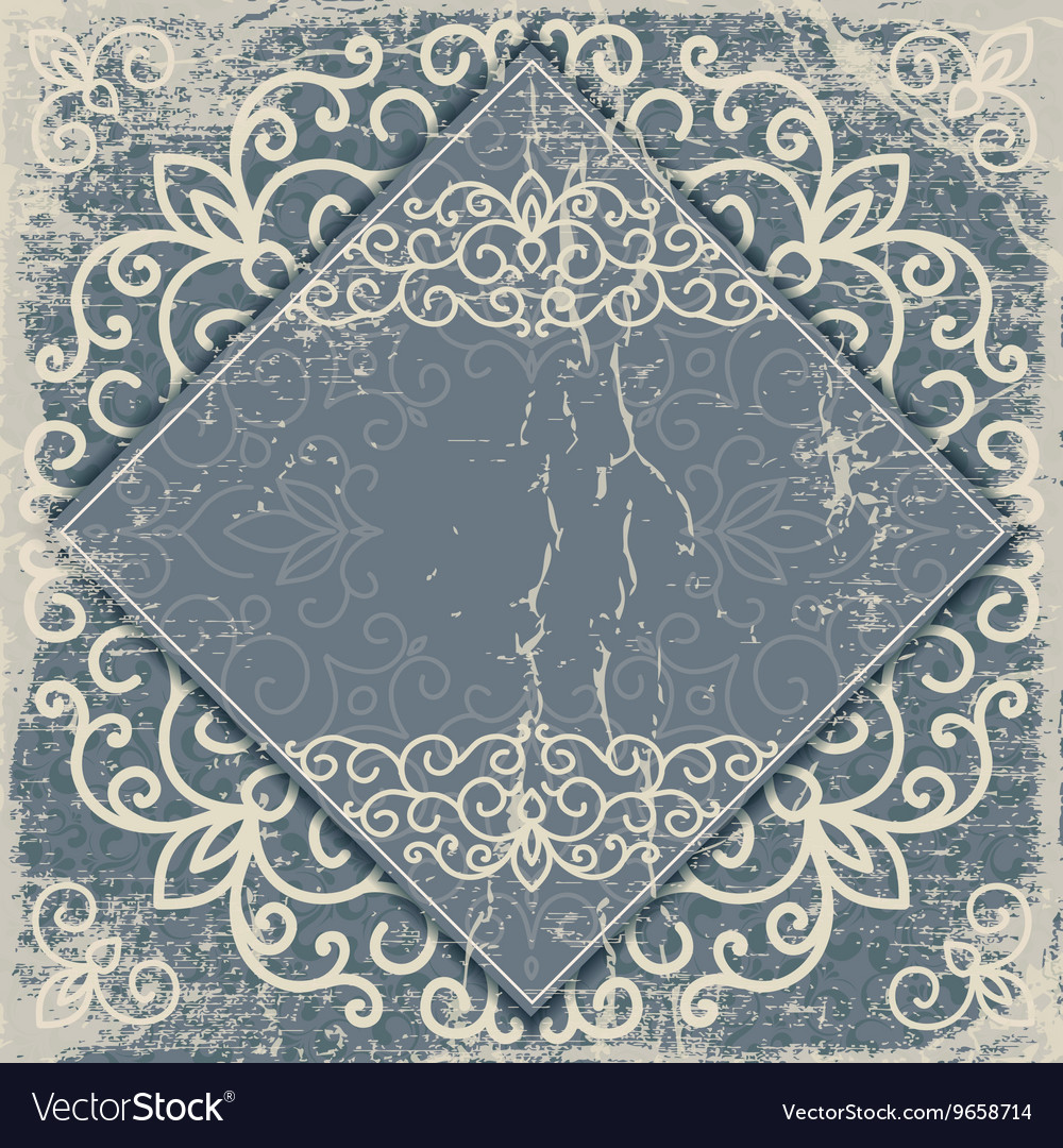 Old worn vintage background card vector