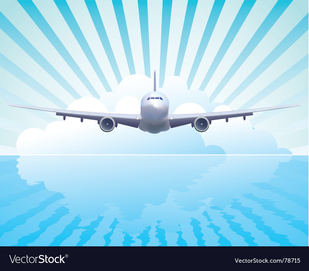 Aircraft in the sky vector