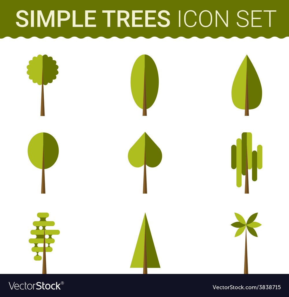 Set of different trees rocks grass sprites for vector