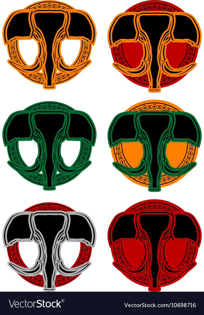 Set of faces of elphant vector