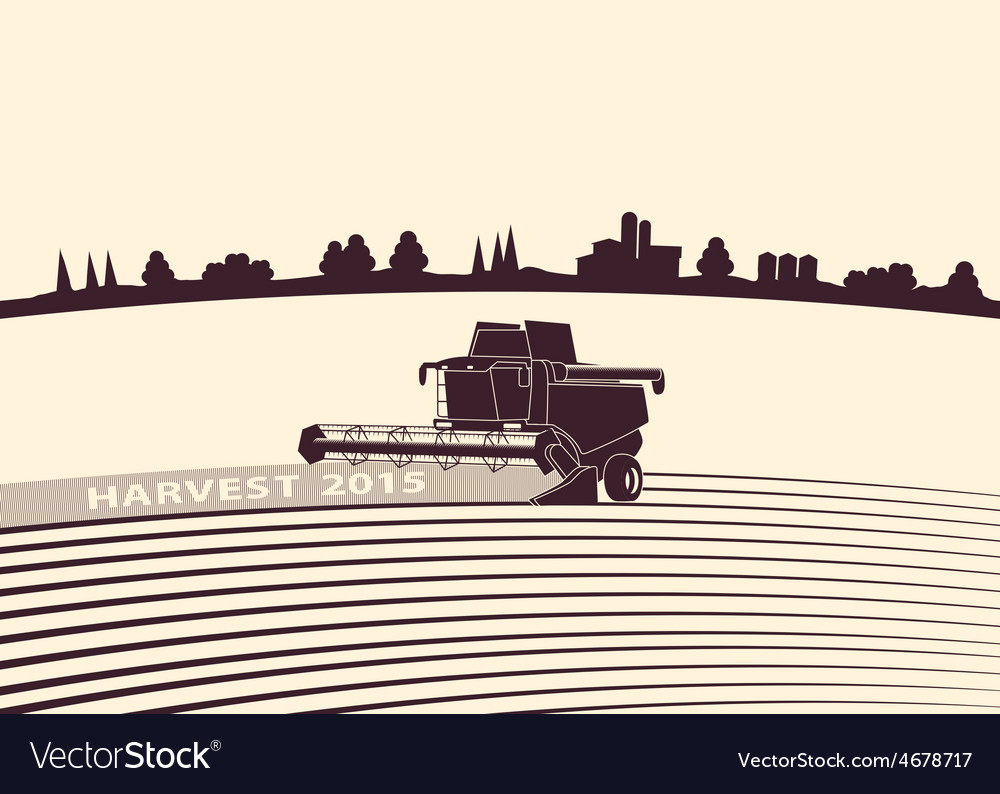 Agricultural background vector