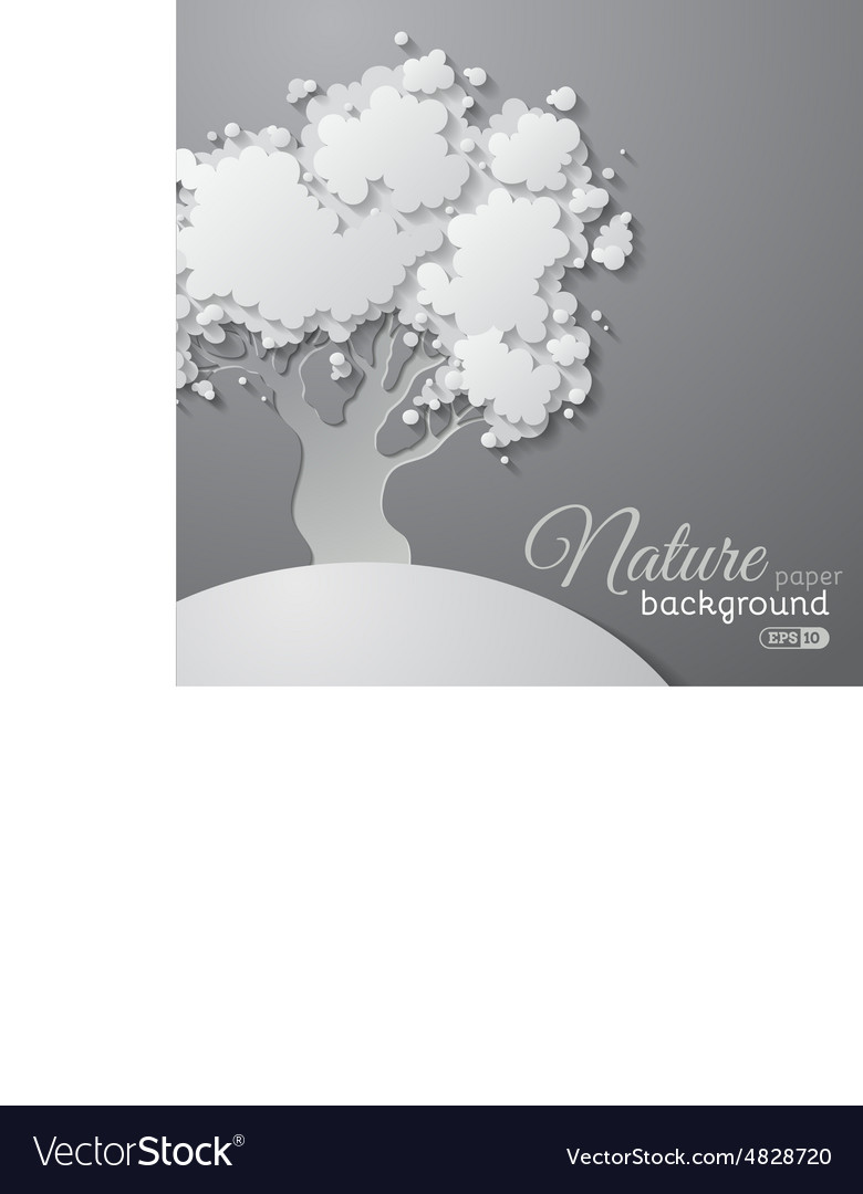 Paper tree background vector