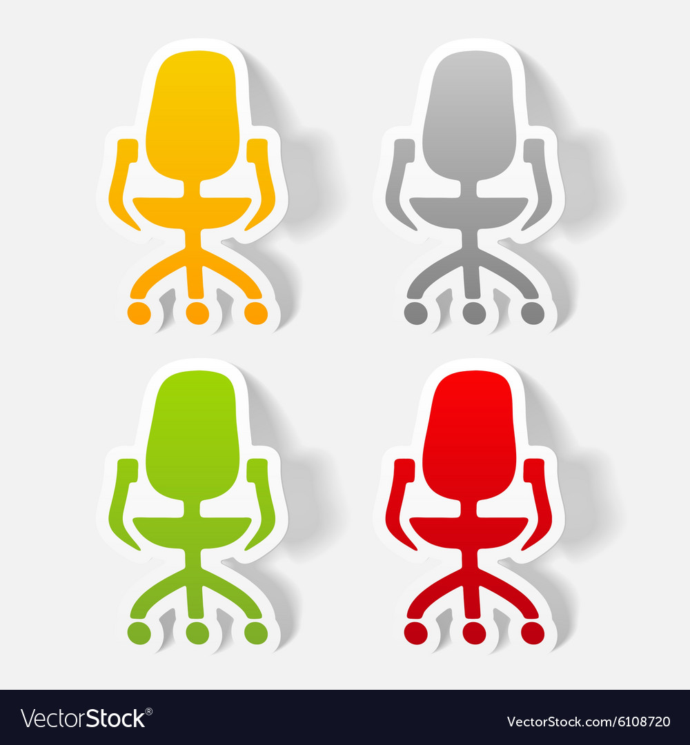 Realistic design element office chair vector