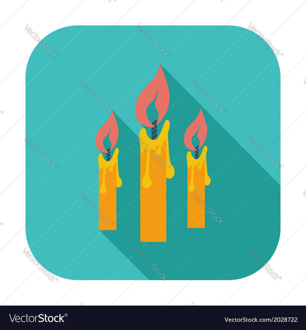 Candles single icon vector