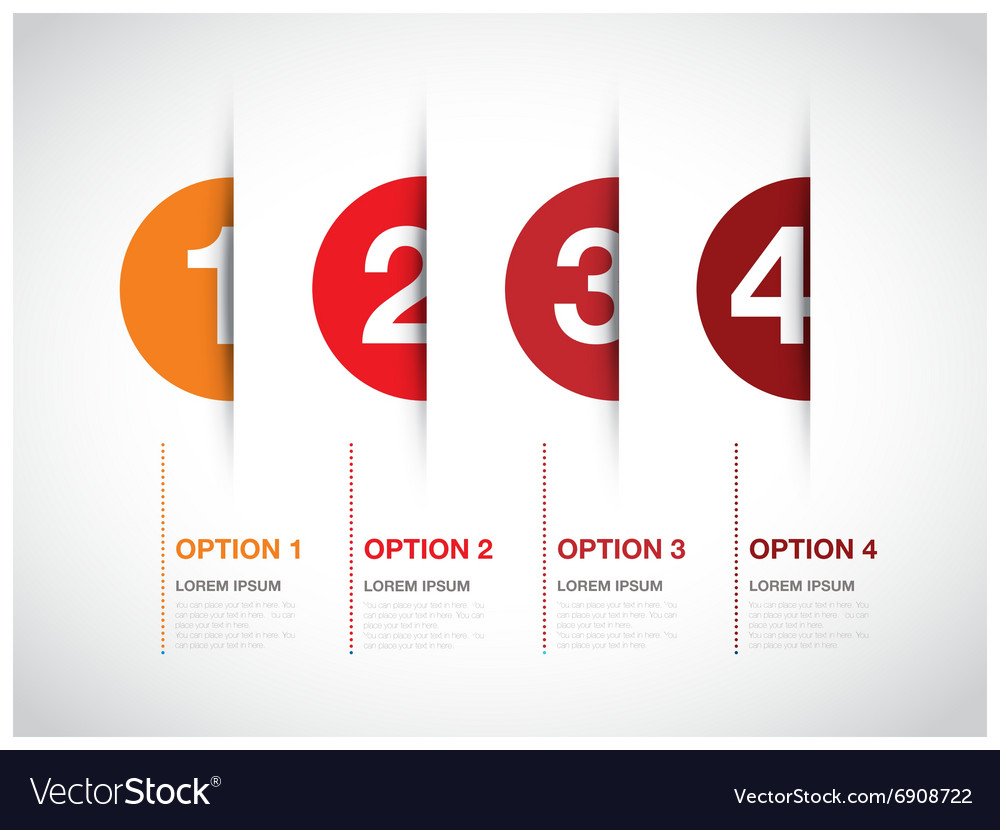 Red option background vector