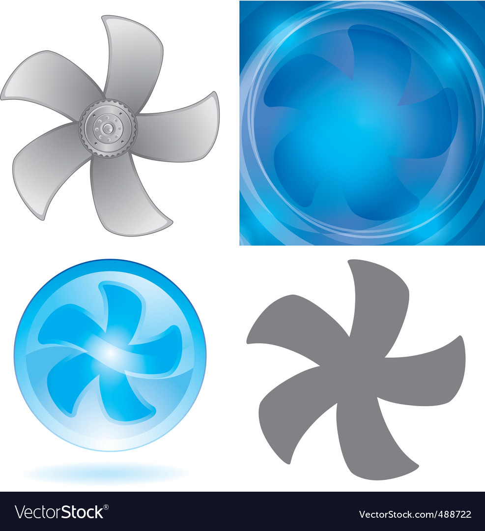 Set of fan elements vector