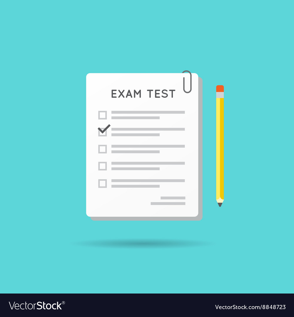 Test or exam icon can be used as logo vector