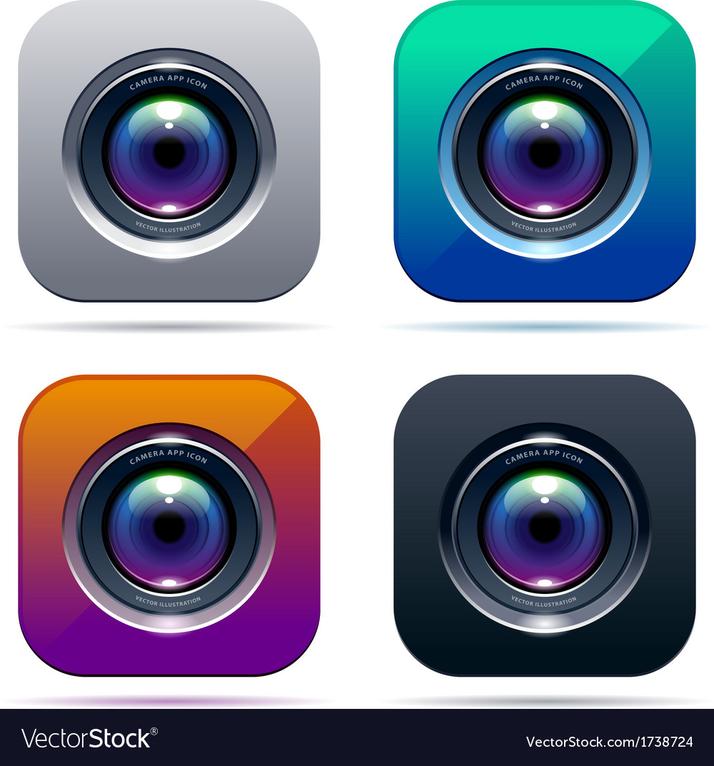 Photo app icon vector