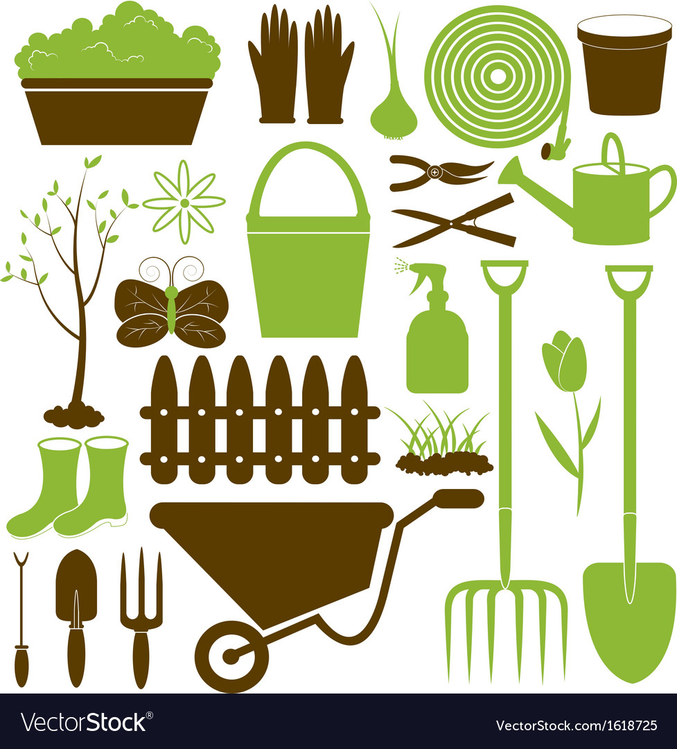 Gardening icons collection vector