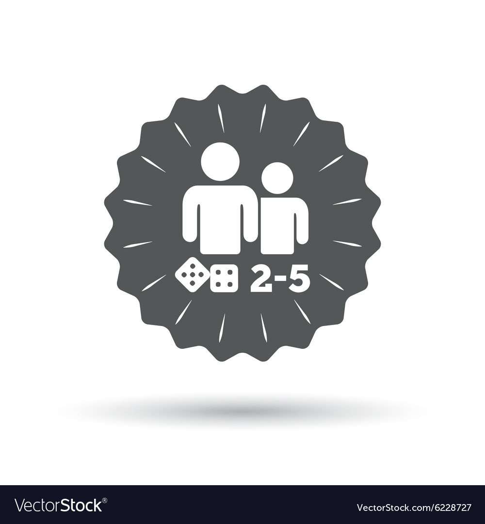 Board games sign icon 25 players symbol vector