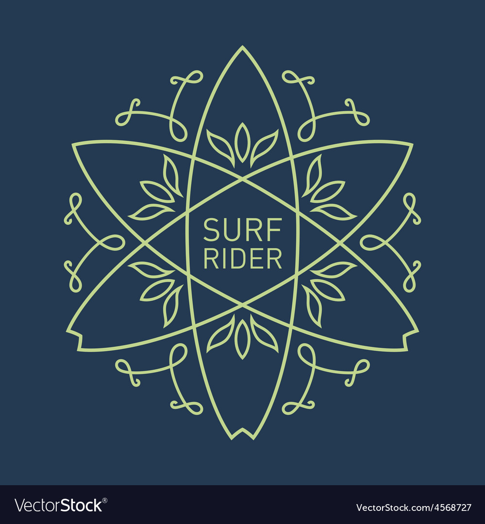 Surfing vintage label for surf board or tee vector