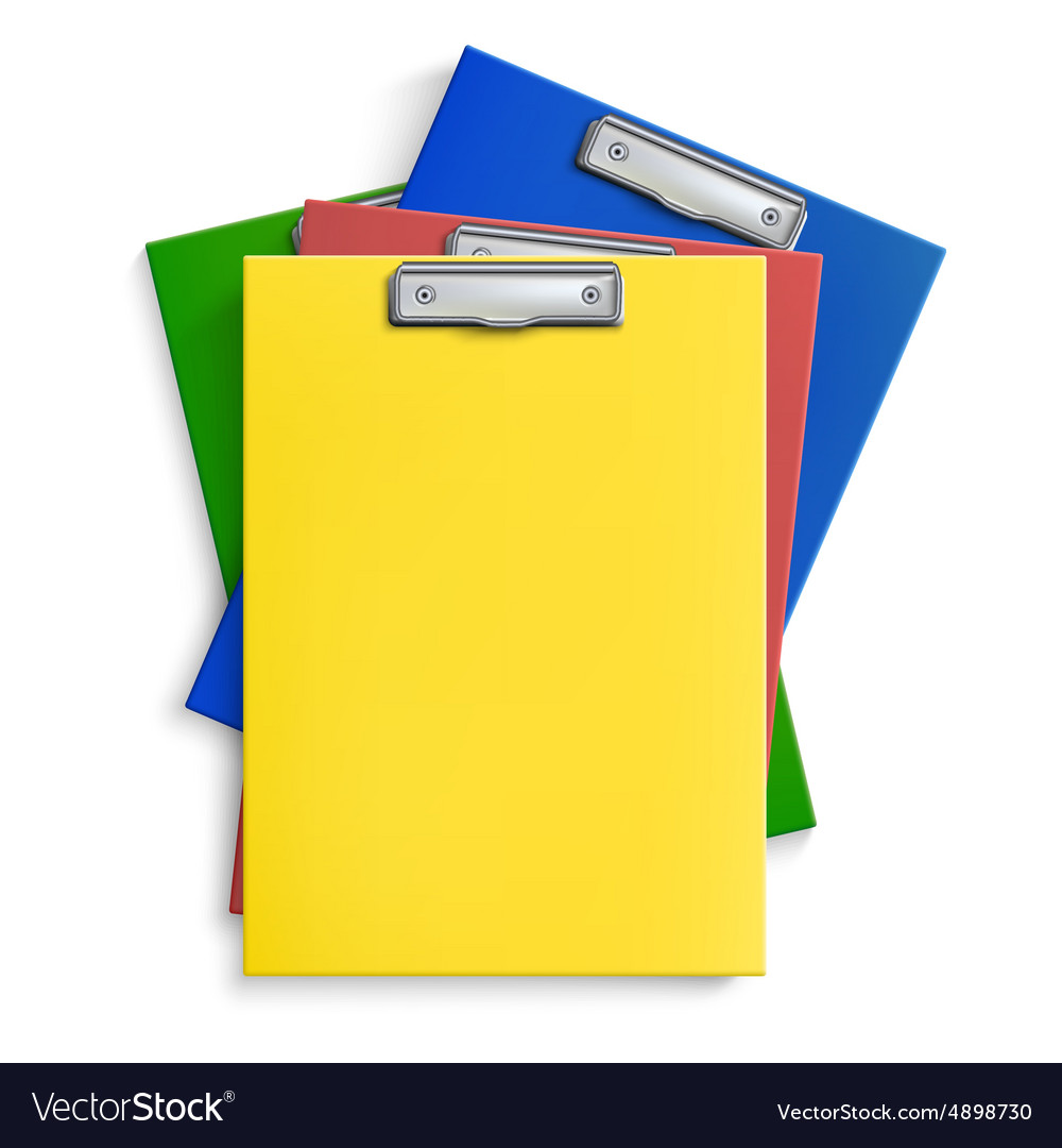 Realistic clipboards vector