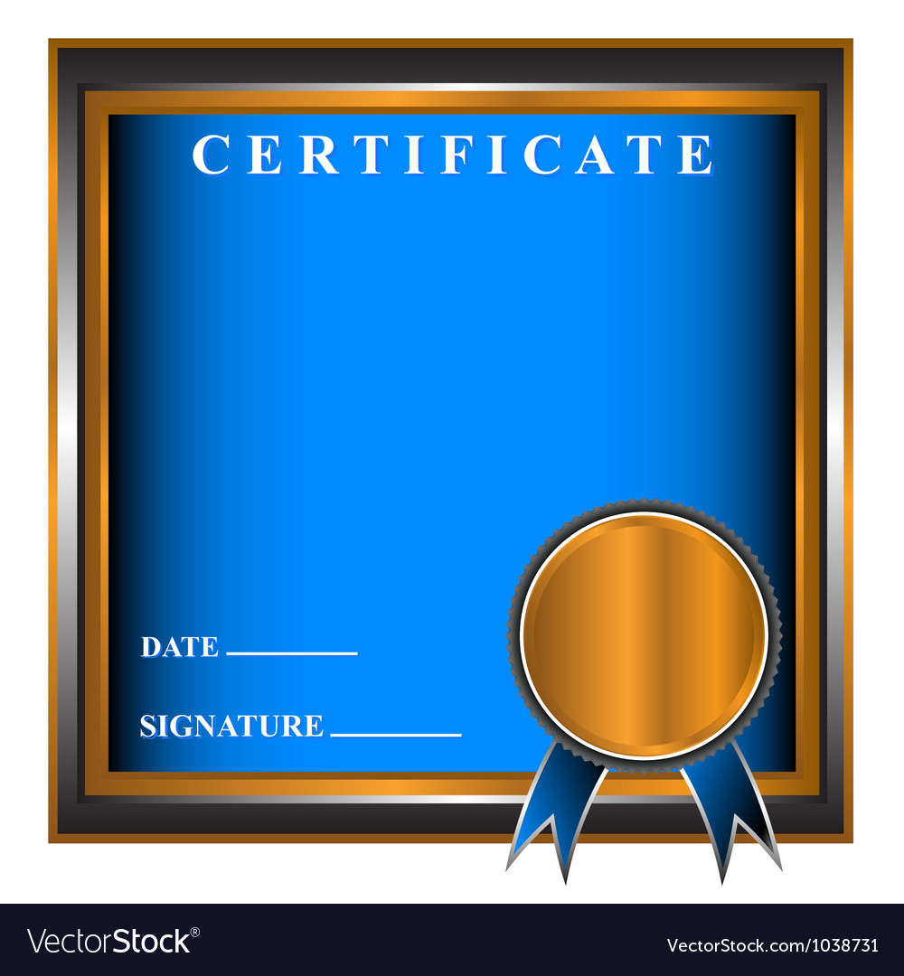 New business certificate vector