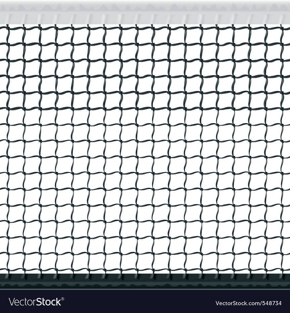 Seamless tennis net vector