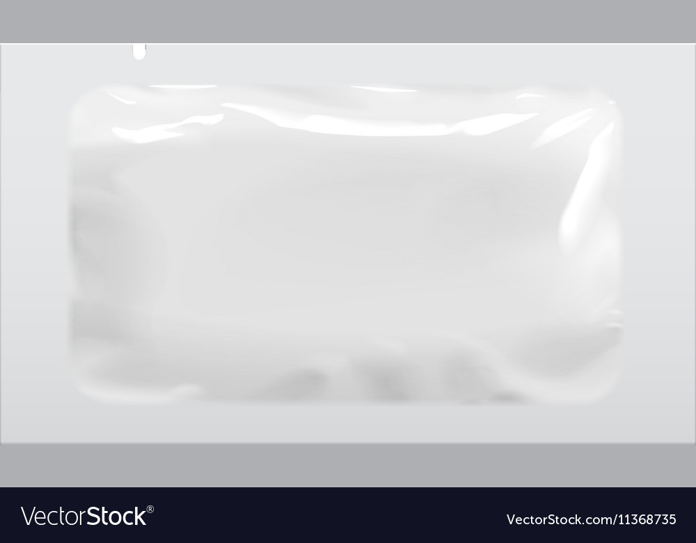 Packaging foil pouch medicine vector
