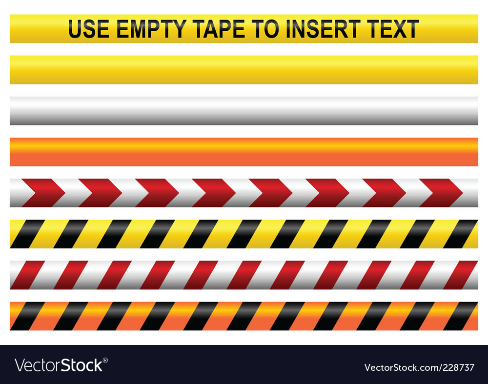 Warning tapes vector
