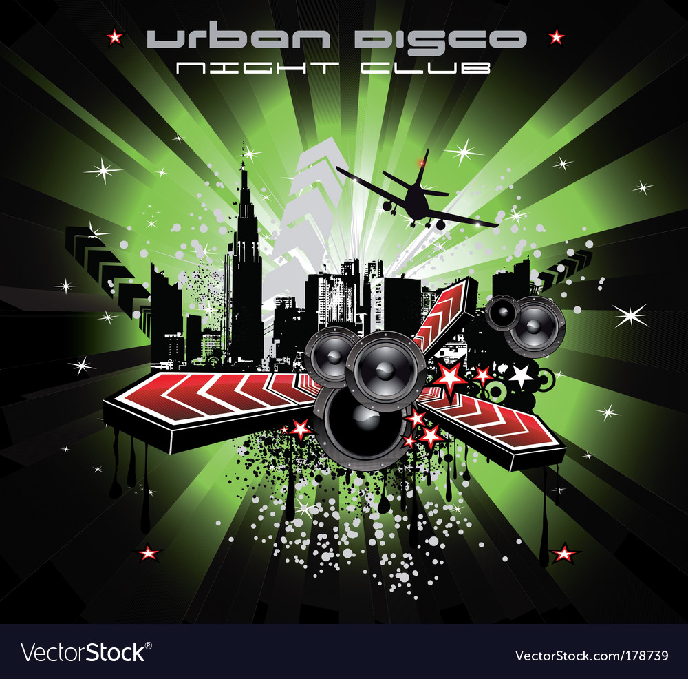 Grunge urban city background vector