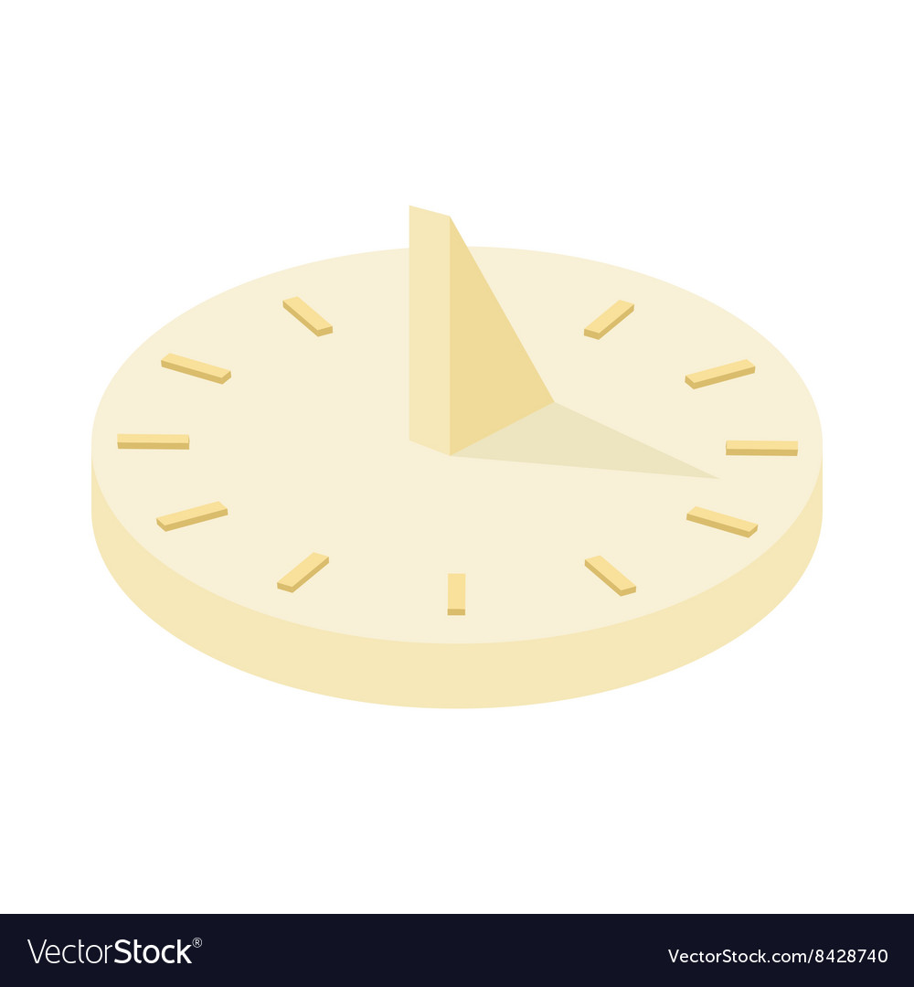 Sundial icon cartoon style vector