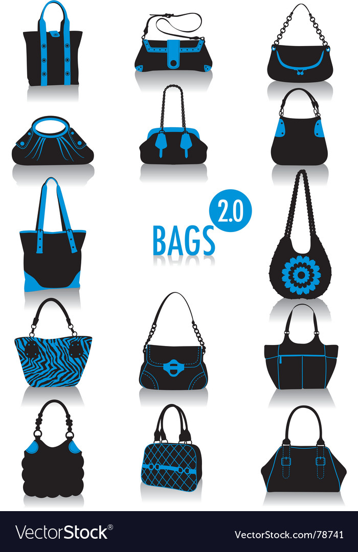 Bags silhouette vector