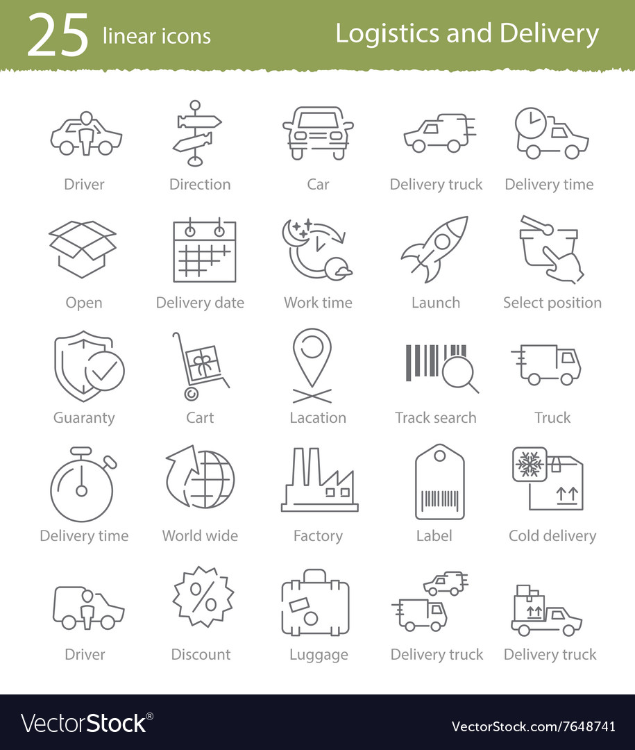 Icons set for shipping and delivery vector